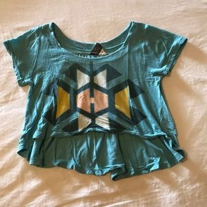 Seneca Rising turquoise crop top / Size small